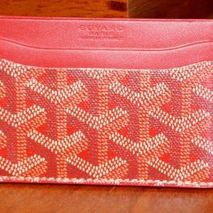Goyard Card Holder - Red